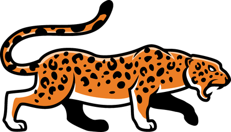 panthera: isolated jaguar illustration