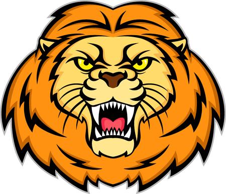 undomestic: angry mascot lion head