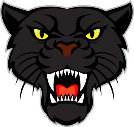 black panther head Vettoriali