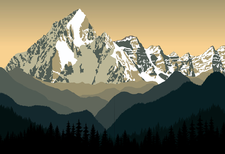 swiss alps: winter mountains landscape
