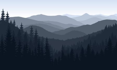 rockies: morning in mountains
