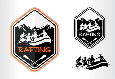 rafting emblem label
