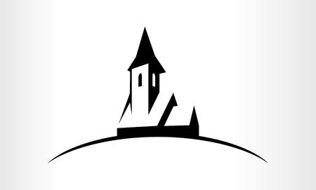 Illustration einer Kirche