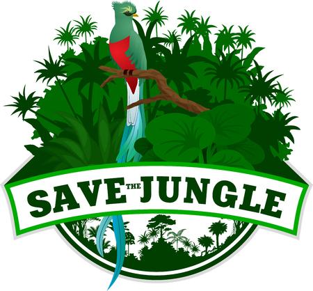 Vector Jungle Emblem with sloth