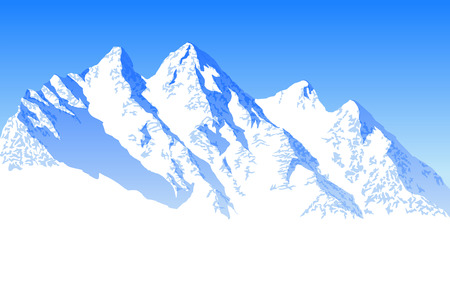 Vector blue beautiful mountains Illustration