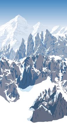 Alps mountain landscape at Europe Switzerland