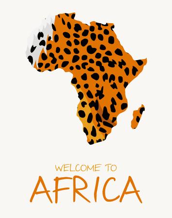 African cheetah map illustration Иллюстрация