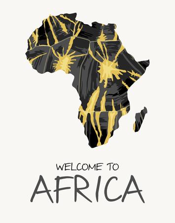 African radiated tortoise map illustration