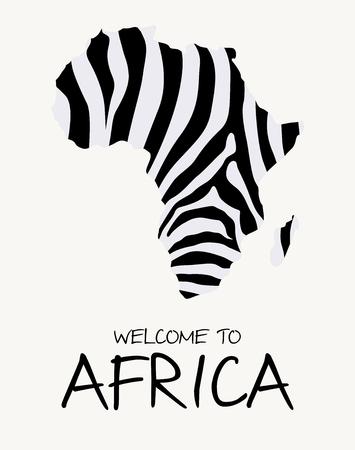 African zebra map illustration Иллюстрация