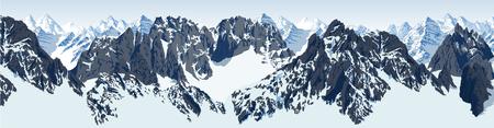 vector karakoram himalayan panorama