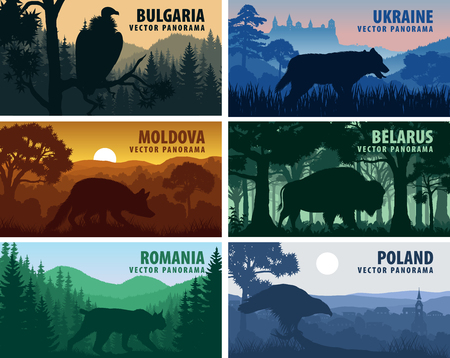 Eastern Europe countries: Ukraine, Bulgaria, Moldova, Poland, Belarus, Belarus with animals