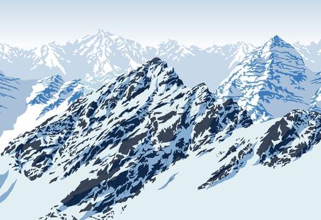 vettore montagne rocciose paesaggio