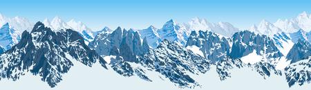 vector mountains karakoram himalayan panorama