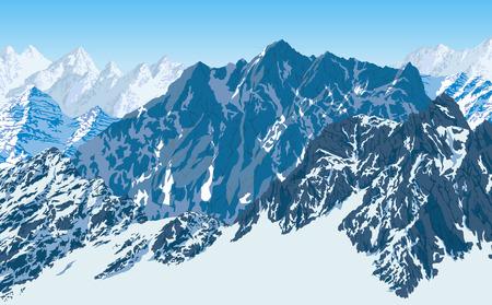 vector karakoram himalayan mountains