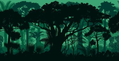 Rainforest rainforest jungle forest background Ilustrace