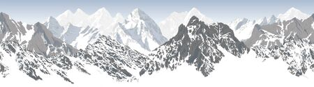 karakoram himalayan panorama background