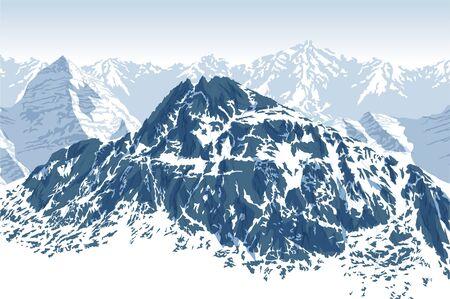 Vector winter tibet Himalayan mountain