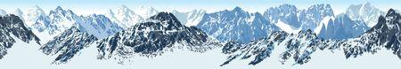 vector seamless Rocky Mountain National Park illustration Stock Illustratie