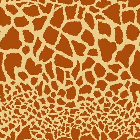 Seamless giraffe skin pattern. Vector illustration Stock Illustratie