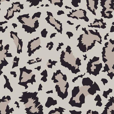 Seamless mountains snow leopard skin pattern. Vector illustration Stock Illustratie