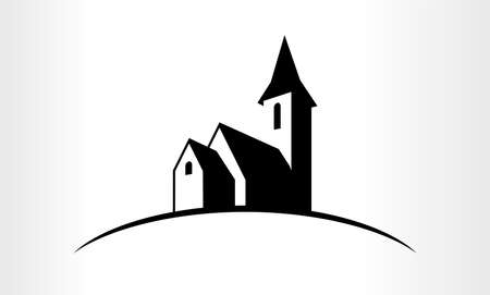 Vector Illustration of a Church   emblem  イラスト・ベクター素材