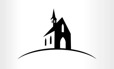 Vector Illustration of a Church logo emblem