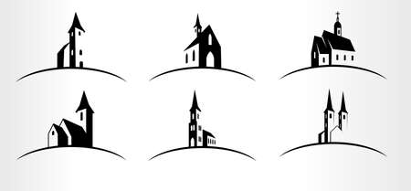 set of Vector Church  emblems