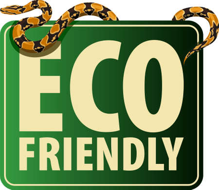 Vector Eco Sticker with python