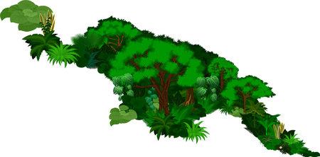 floral New Guinea map - vector illustration 向量圖像