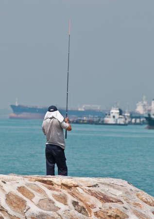 melacca: Fishing in Melacca Straits, August 2010