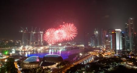 countdown: New Year fireworks, Singapore