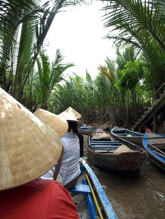 mekong: paddling down the Mekong Delta Stock Photo