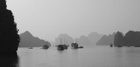 sailing through Ha Long Bay photo