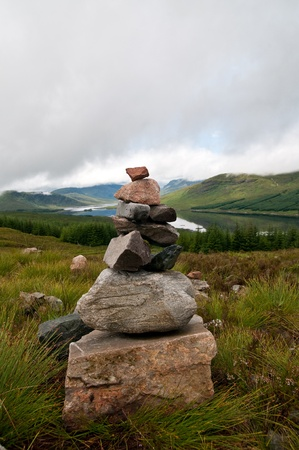cairn: small cairn in countryside