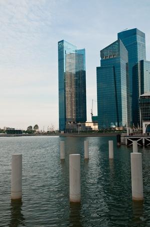 refelction: skyscrapers at marina Stock Photo
