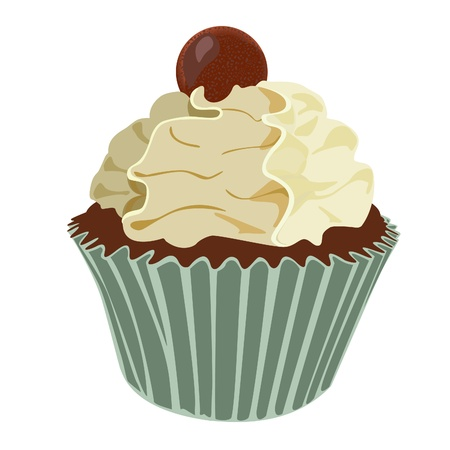 Cream swirl cupcake Stock Vector - 19547675