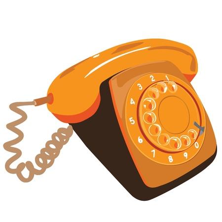 bakelite: Retro orange telephone