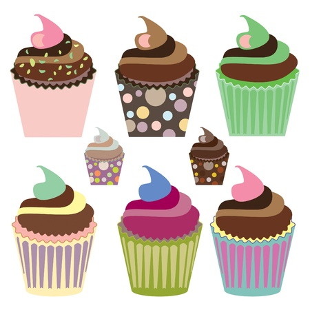 fairycake: Cute cupcake set variety of flavors