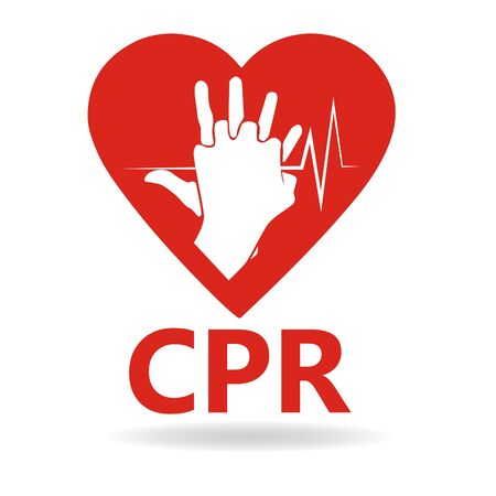 CPR logo. Medical resuscitation Vector clipart icon image isolated on white background design illustration