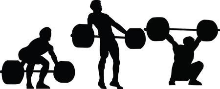 snatch: Weightlifting - snatch vector illustration Stock Illustration