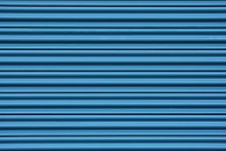 corrugated metal: Corrugated metal sheet door in blue