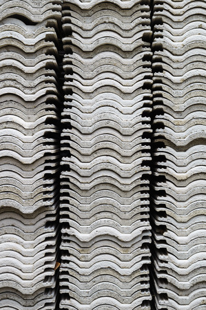 asbestos: The stacks of corrugated roof have been left dry by sunlight