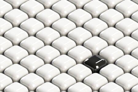 black block: Bloque negro entre multitudes blancas Foto de archivo