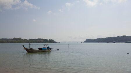 fishy: Thai Fishing Boat Parked in a Marina in Phuket Thailand