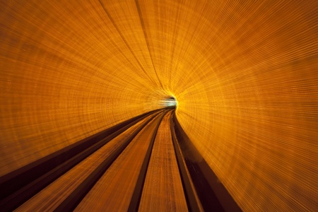 trippy: Long Exposure Inside a Lighted Tunnel