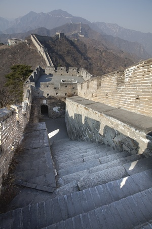 Stairs Going Down The Great Wall Of China Stock Photo - 12837897