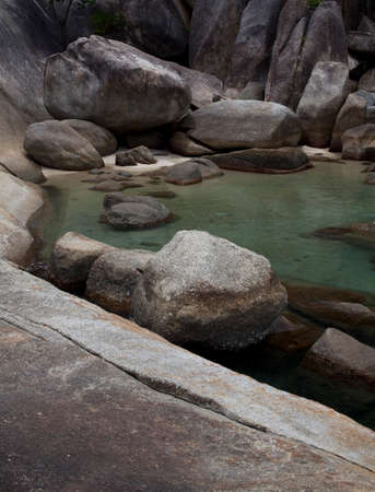 clear water: Beautiful clear water rock lagoon on a sunny day