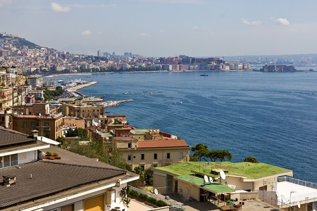 aerial view of the bay of Naples Stock Photo - 15954329