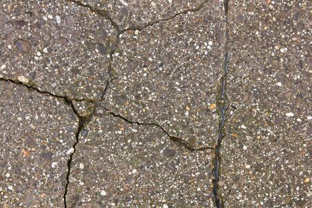 asphalt path is covered with patterns of cracks Stock Photo - 17724925