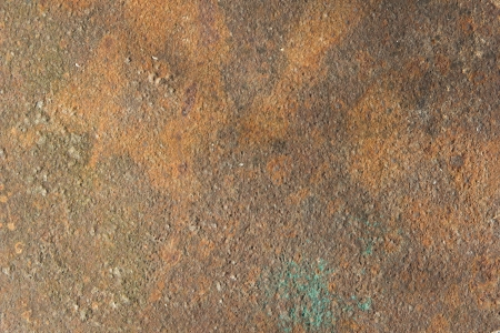 metal surface is covered with a layer of rust